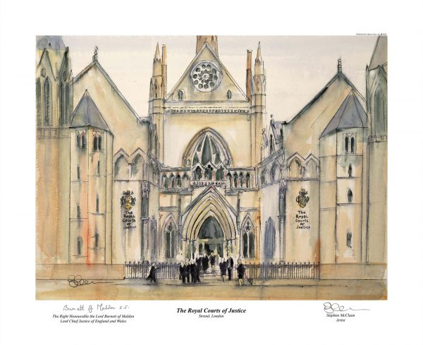 Royal Courts of Justice - Limited Edition Print