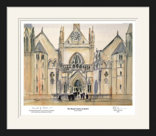 Royal Courts of Justice Framed